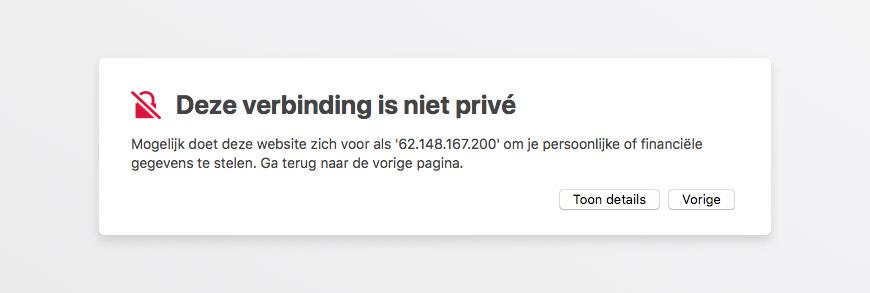 SSL foutmelding